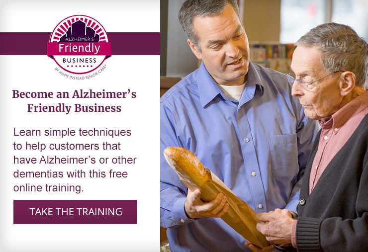 Become an Alzheimer's Friendly Business. Take the Training.